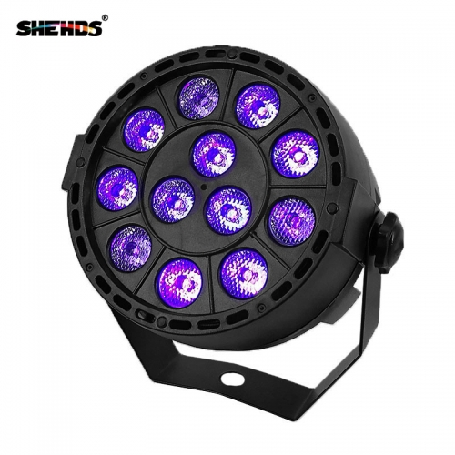LED Flat Par 12x3W Ultraviolet Color Lighting LED Stage Light Par With DMX512 for disco DJ projecto Party Decoration