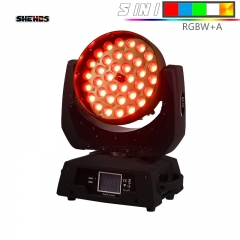 SHEHDS LED Wash Zoom 36x15W RGBWA Moving Head Lighting For Stage Effect