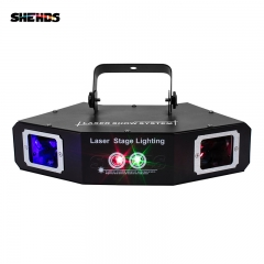 Four Eyes Red Green Blue Sector Scan Gobo Laser DMX512 Stage Effect Lighting Good For DJ Disco Party Dance Floor Bar And Clubs