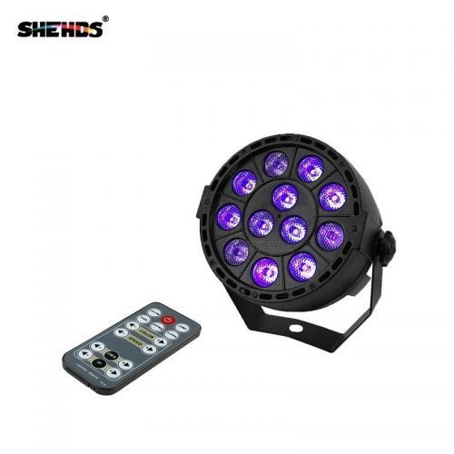 LED Wireless Remote Control LED Flat Par 12x3W Violet Color Lighting DMX512 DJ Disco KTV Bar Party Beam Projector Spotlight