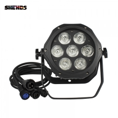 New Product LED Waterproof LED Par 7x12W RGBW /7x18 RGBWA+UV  Lights Free Shiping