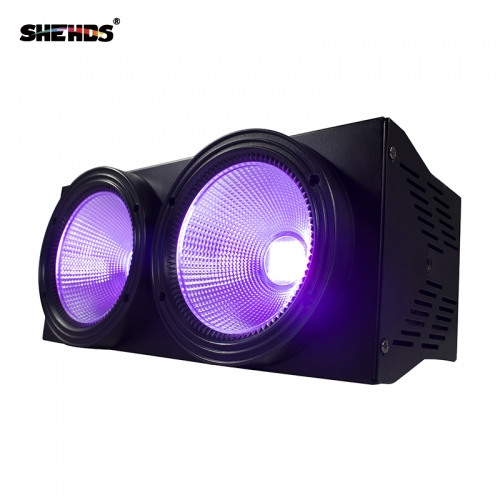 Free Shipping 2eyes 200W LED COB Blinder Violet Lighting DMX512 Stage Lighting Effect Audience Lighting DJ Equipment Disco