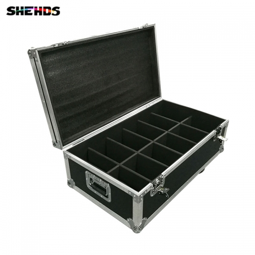 FlightCase With 6/8/10/12/16pcs LED Luxury DMX 8 Channels Led Flat Par Light 7x12W RGBW 4IN1 Fast Shipping