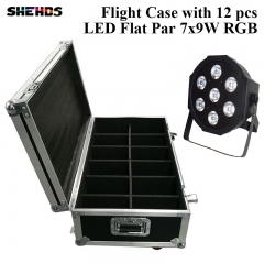 Flight Case with 6/8/10/12/16 pieces LED Flat Par 7x9W RGB Lighting Business Lights with Professional for Party Disco DJ New Stage Light