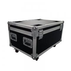 Flight Case with 4/6/8/10 pieces Aluminum alloy LED Flat Par 18x18W RGBWA+UV Lighting LED lighting  with 8pieces DMX Cables DJ