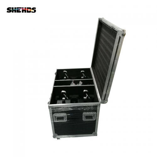 Flight Case with 4 pieces LED 12x12W RGBW Beam Moving Head Light Quad LEDs With Excellent Pragrams 9/16 Channels
