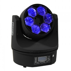 LED Beam+Wash 6x15W RGBW 4IN1 Bees Eyes LED Moving Head Light With Excellent Pragrams 11/14 Channels
