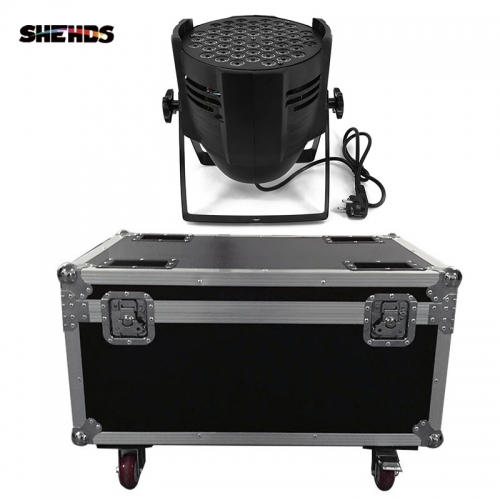 LED Par Can 54x9W RGB Lighting  With Flightcase with 2/4/6/8pcs For Professional Light DJ disco  Led Stage Lighting
