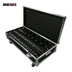 FlightCase With 4pcs LED 8x12W Bar Beam Moving Head Light RGBW Perfect For Mobile DJ Party Nightclub Dance Floor Disco