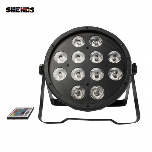 Wireless Remote Control LED Flat Par 12x12W RGBW 4in1 Lighting