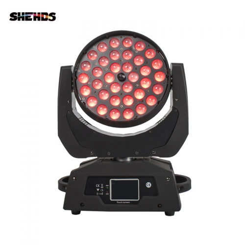 LED Wash 36x18W RGBWA+UV 6in1 Moving Head Stage Lighting Free and Fast Shipping