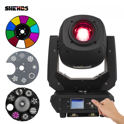 LED 230W Spot Zoom Two GOBO&Color Plate Moving Head light  DMX512 Professinal Stgae Dj Disco Lighting