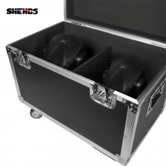 FlightCase With 2pcs LED Bee Eye Zoom&Beam&Wash 7x40W RGBW Moving Head Light Stage DJ Lighting