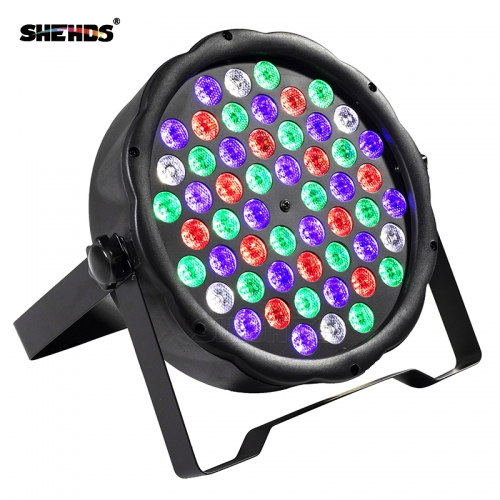Fast Shipping LED 54x3W RGBW LED Flat Par RGBW Color Mixing DJ Wash Light Stage Uplighting KTV Disco DJ DMX512
