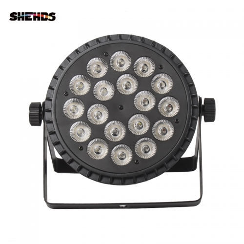 Aluminum Alloy LED Flat Par 18x12W RGBW 4in1 DMX512 for Discos/Party/Stage Effect Lighting