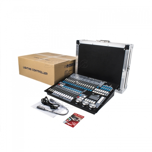 Flight case with DMX Console 1024  Lighting Consoles Professional Stage Lights Control Equipment