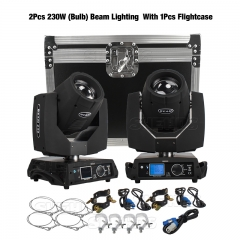 Flight Case can put 2pcs Beam 230W 7R Moving Head Lighitng(the price is noly Flight case,without 230W lights)