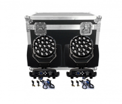 Flight Case With 2pcs LED Beam&Wash Bees Eyes 19x15W RGBW Zoom Lighting