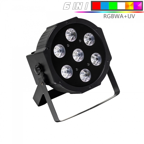 LED Par 7x18W RGBWA+UV 6IN1 Lighting Professional For Stage Effect Atmosphere Of Disco DJ Music Party Club Dance Floor