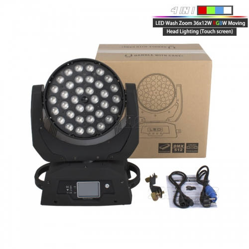 LED moving head 36x12W Zoom RGBW 4in1 Wash Zoom Lyre Perfect For Clubs Concert Productions DJ Disco