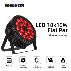 Aluminum Alloy LED Flat Par 18x18W Lighting DJ Par Cans Dmx 512 Light Wash Stage Lighting