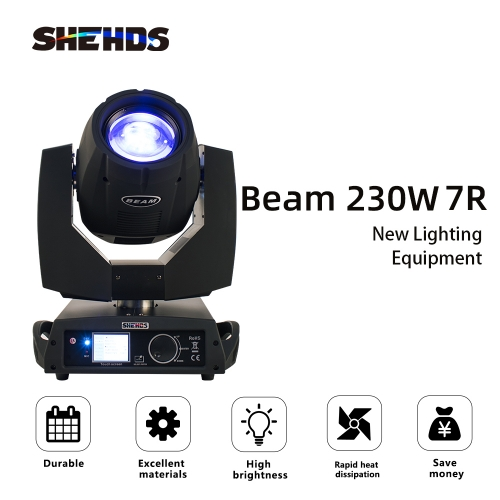 Beam 230W 7R Beam Moving Head Lighting DMX512 for Professional Stage Light Nightclub Touch Screen