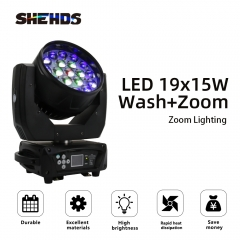 LED Moving Head 19x15W RGBW Wash/Zoom Stage Lights Professional DJ/Bar LED Stage Lighting